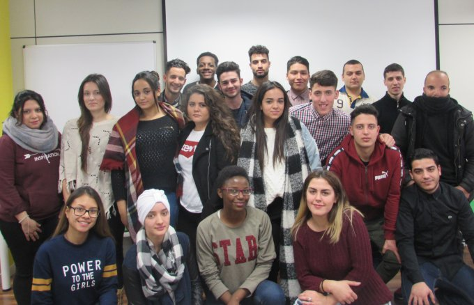 Participants from the 2018 Young people with a future programme, an initiative organised by Fundación Repsol and Fundación Iter