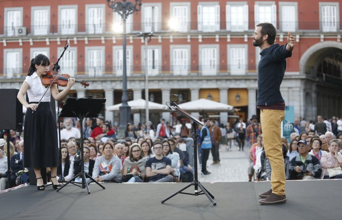 Poesía para los ojos (Poetry for the Eyes), an activity from the Poetic Jousts event organised by Fundación Repsol and Festival Eñe