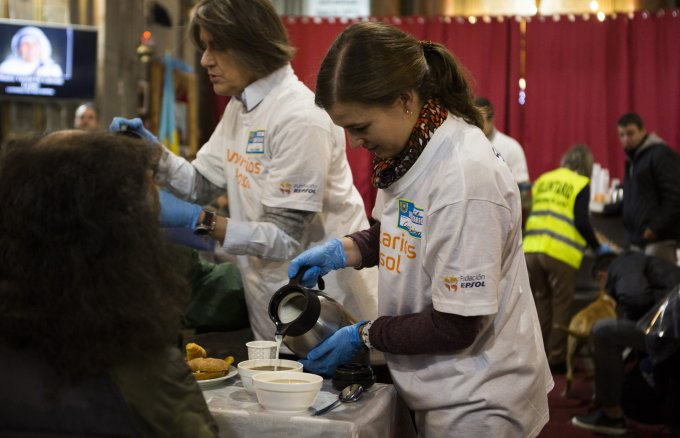 The charity breakfasts, a new activity for our volunteers