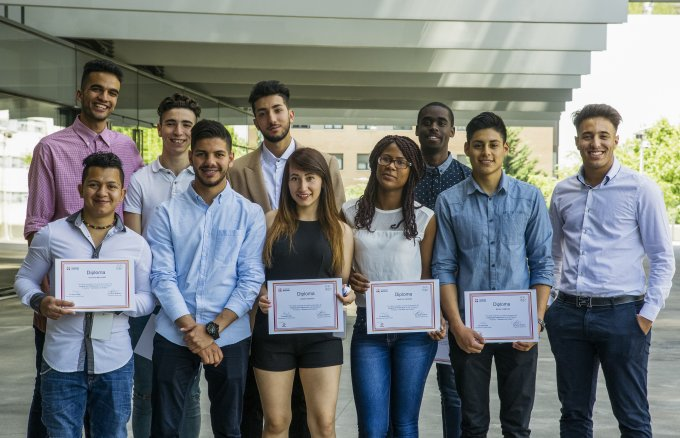 Students from the Young People with a Future training programme